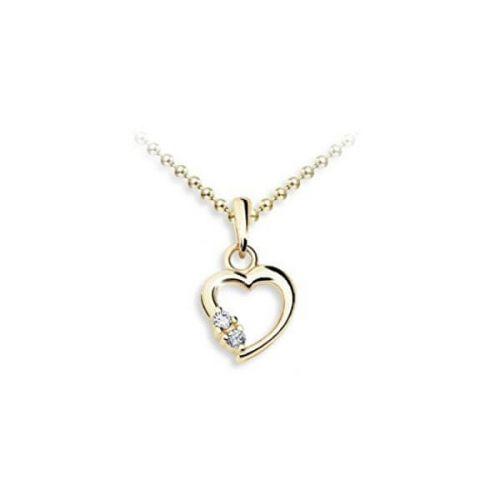 JVD Pozlacený přívěsek Srdce SVLP0572XH2GO00 stříbro 925/1000