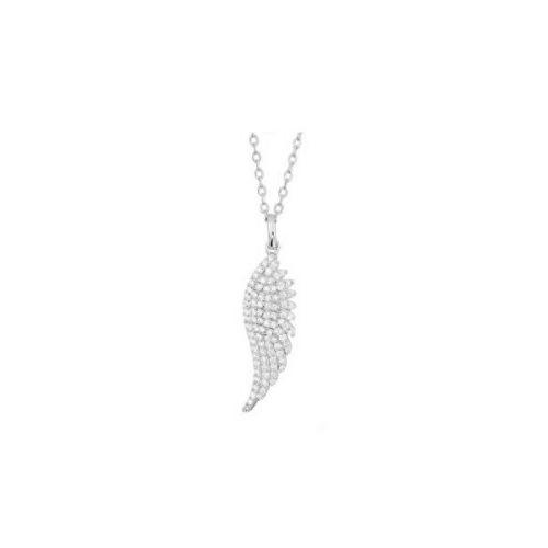JVD Stříbrný přívěsek se zirkony Andělské křídlo SVLP0574XH2BI00 stříbro 925/1000