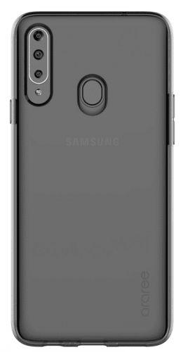 Samsung Poloprůhledný zadní kryt pro A20s Black GP-FPA207KDABW