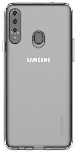 Samsung Poloprůhledný zadní kryt pro A20s Transparent GP-FPA207KDATW