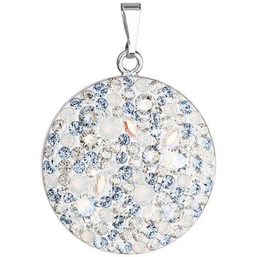 Evolution Group Stříbrný přívěsek s krystaly Swarovski 34131.3 Light Sapphire stříbro 925/1000
