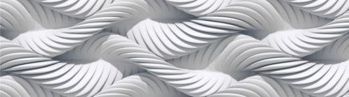 AG design Samolepící bordura 3D bílá pletená lana 5 m x 14 cm