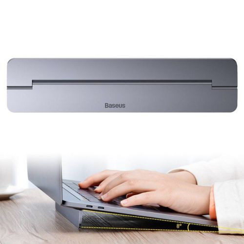 BASEUS Self-adhesive Slim stojan na notebook, šedý