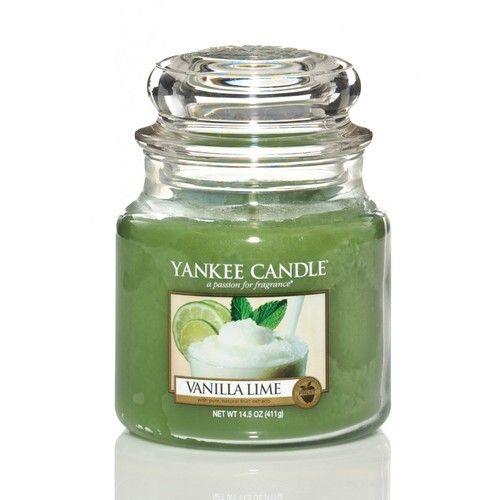 Yankee Candle Svíčka ve skleněné dóze , Vanilka s limetkou, 104 g