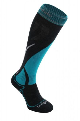 Bridgedale Ski Midweight Women´s gunmetal/turquoise L (41-43EU)