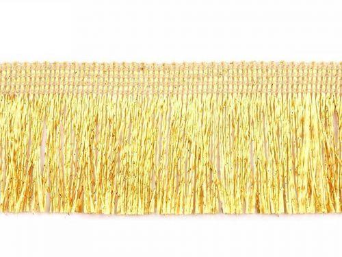 Kraftika 23m sunset gold leonské třásně šíře 40mm, a střapce