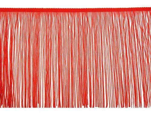 Kraftika 13.5m červená třásně šíře 25cm, a střapce