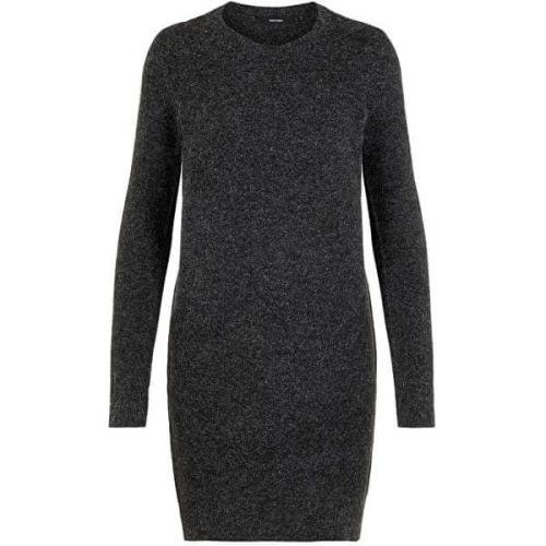 Vero Moda Dámské šaty VMDOFFY 10215523 Black MELANGE (Velikost XS)