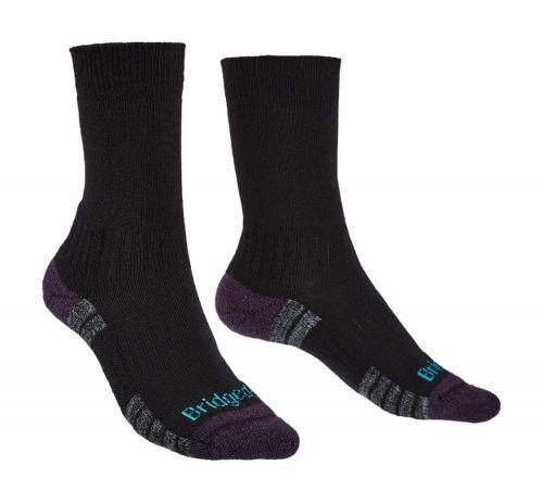 Bridgedale Hike Lightweight Merino Performance Boot Women´s black/purple S (3-4,5)