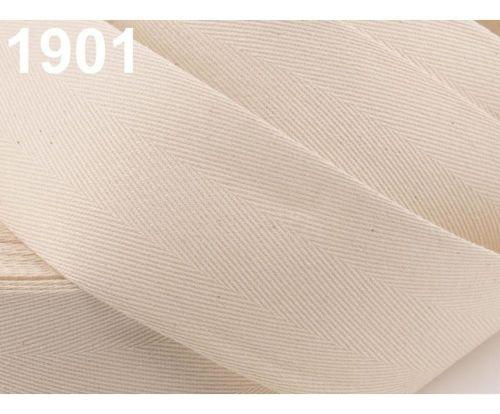 Kraftika 50m 1901 béžová sv. keprovka - tkaloun šíře 50mm