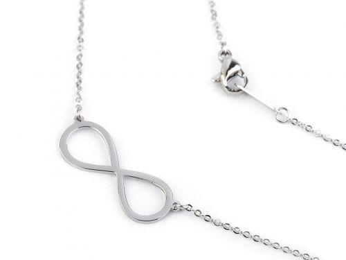 Kraftika 1ks platina nekonečno náhrdelník srdce, křížek, motýl