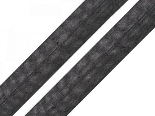 Kraftika 50m černá lemovací pruženka šíře 19mm, pruženky, - gumy
