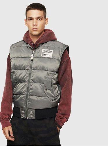 Diesel šedá pánská prošívaná vesta M cena od 0 Kč