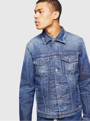 Diesel modrá pánská džínová bunda S