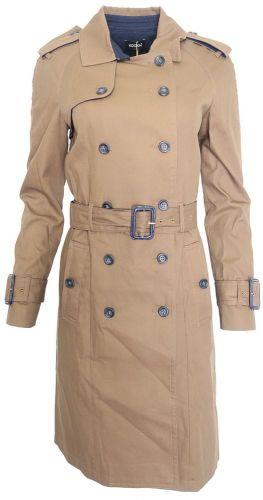 Kookaï Hnědý kabátek Kookai Hnědá 34, Délka: Dlouhá