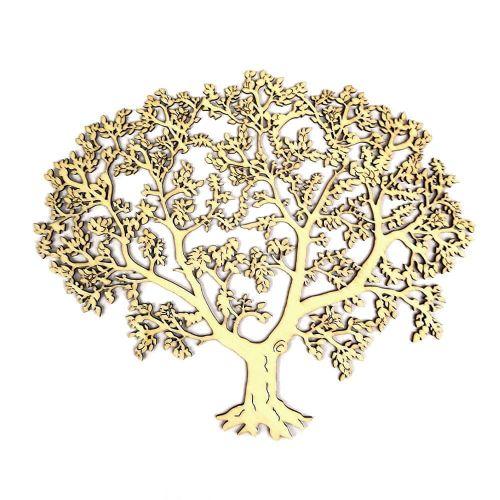 AMADEA Dřevěný strom, přírodní závěsná dekorace, 27 cm