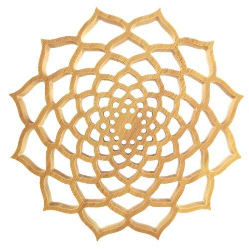 AMADEA Dřevěná mandala na zavěšení, masivní dřevo, průměr 30 cm, tl. 20 mm