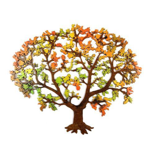 AMADEA Dřevěný strom v podzimních barvách, barevná závěsná dekorace, 24 cm