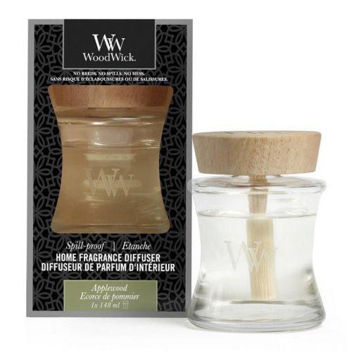 Woodwick aroma difuzér Applewood (Jabloňové dřevo) s víčkem proti vylití 148 ml
