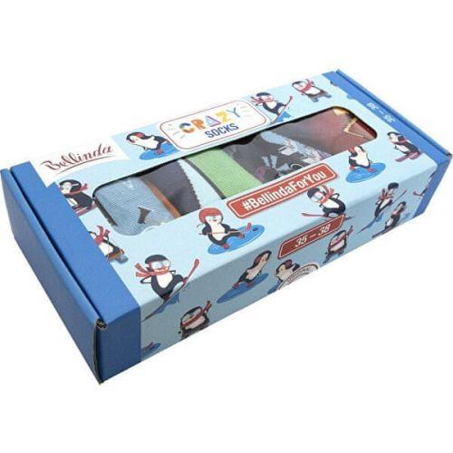 Bellinda Dárková sada ponožek Crazy Socks Box BE481044-004 (Velikost 35-38)