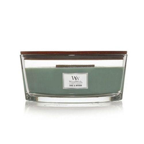 Woodwick Vonná svíčka loď Sage & Myrrh 453 g