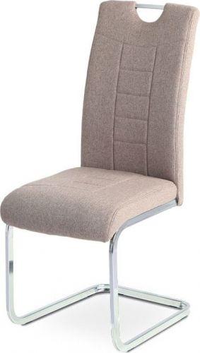 ART Jídelní židle, coffee látka, kovová pohupová chromovaná podnož DCL-404 COF2 Art