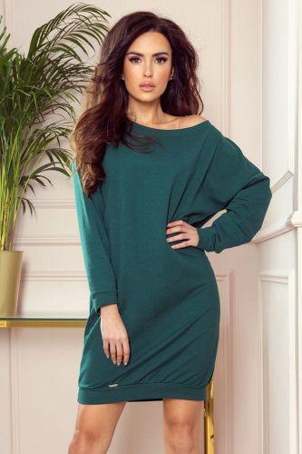 Numoco Dámské šaty 293-1 Oversize + Ponožky Gatta Calzino Strech, zelená, S