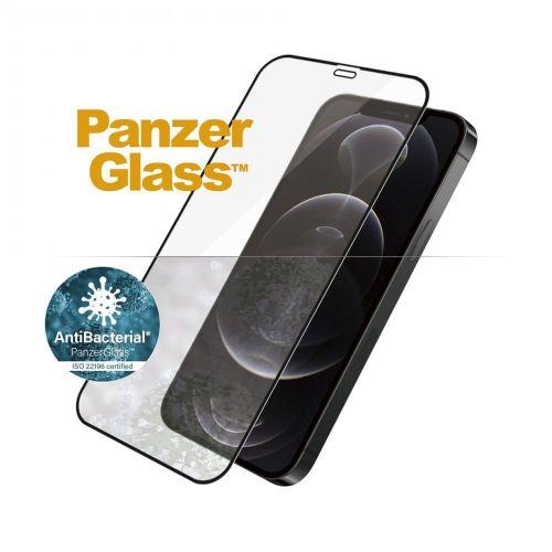 PanzerGlass Edge-to-Edge Antibacterial pro Apple iPhone 12/12 Pro 6,1″ 2711, černé