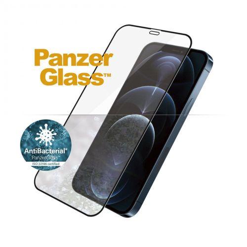 PanzerGlass Edge-to-Edge Antibacterial pro Apple iPhone 12 Pro Max 6,7″ 2712, černé
