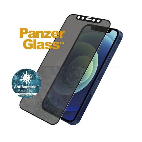 PanzerGlass Edge-to-Edge Privacy Antibacterial pro Apple iPhone 12/12 Pro 6,1″ P2711, černé