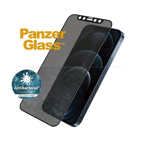 PanzerGlass Edge-to-Edge Privacy Antibacterial pro Apple iPhone 12 Pro Max 6,7″ P2712, černé