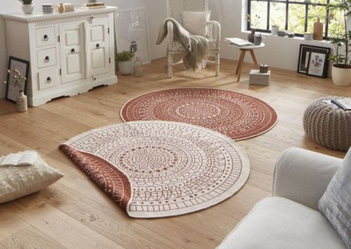 Bougari AKCE: 200x200 cm Kusový koberec Twin-Wendeteppiche 103102 creme terra 200x200 (průměr) kruh