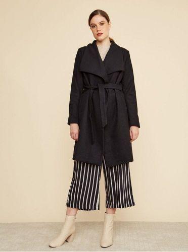 ZOOT černý dámský kabát s příměsí vlny Timea XS