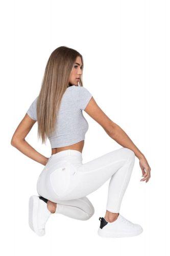 Gemini Dámské Hugz White High Waist Jegging - HUGZJEANS bílá XL