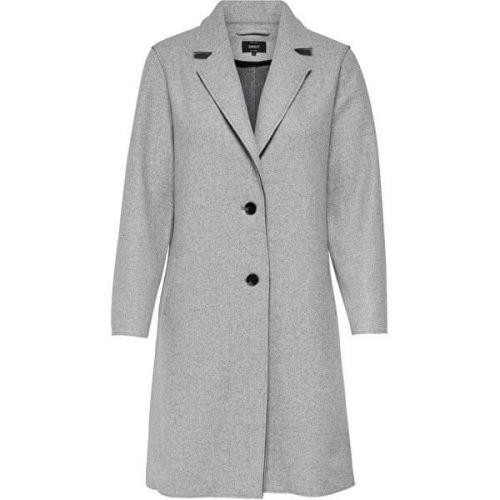 ONLY Dámský kabát ONLCARRIE BONDED 15213300 Light Grey Melange (Velikost XS)