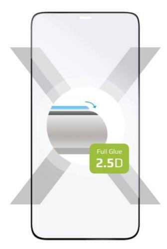 Fixed Ochranné sklo Full-Cover pro Apple iPhone 12 Pro Max, přes celý displej, černé FIXGFA-560-BK