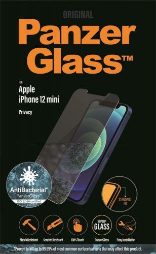 PanzerGlass Standard Privacy Antibacterial pro Apple iPhone 12 mini P2707, čiré