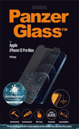 PanzerGlass Standard Privacy Antibacterial pro Apple iPhone 12 Pro Max P2709, čiré
