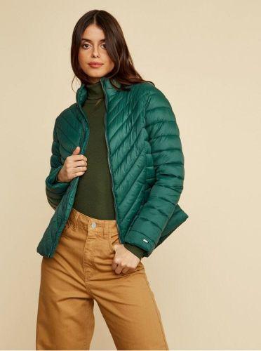 ZOOT tmavě zelená dámská zimní prošívaná bunda Vicci XS