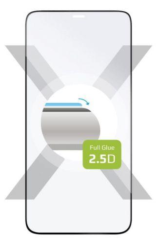 Fixed Ochranné sklo Full-Cover pro Apple iPhone 12 Mini, lepení přes celý displej, černé FIXGFA-557-BK