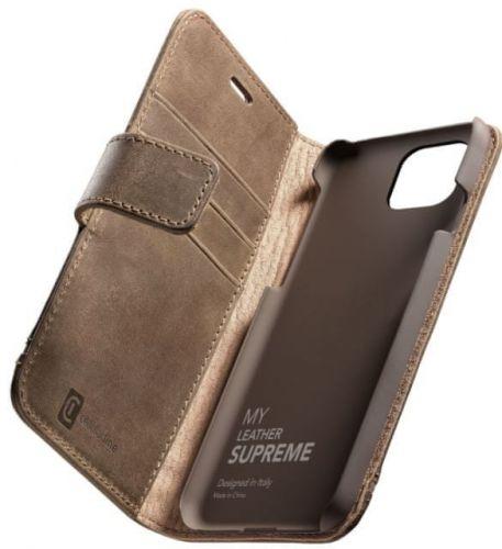 CellularLine Prémiové kožené pouzdro Supreme pro Apple iPhone 12 Pro Max, hnědé SUPREMECIPH12PRMN
