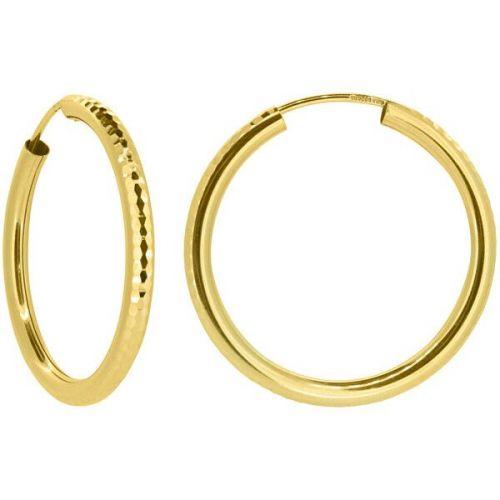 Brilio Dámské náušnice kruhy ze žlutého zlata P005.750132515.75 (Průměr 3 cm)