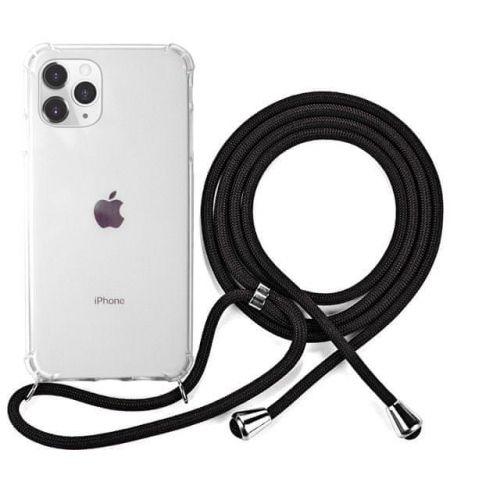 EPICO Nake String Case iPhone 11 Pro - bílá transparentní / černá 42310101300007