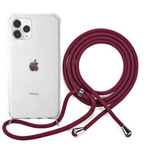 EPICO Nake String Case iPhone 11 Pro Max - bílá transparentní / červená 42510101400006