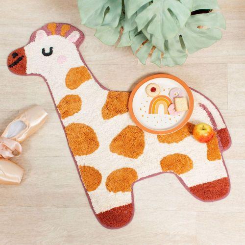 Sass & Belle Dětský bavlněný koberec s motivem žirafy Giraffe Rug