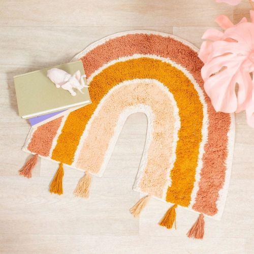 Sass & Belle Dětský bavlněný koberec s motivem duhy se střapci Earth Rainbow