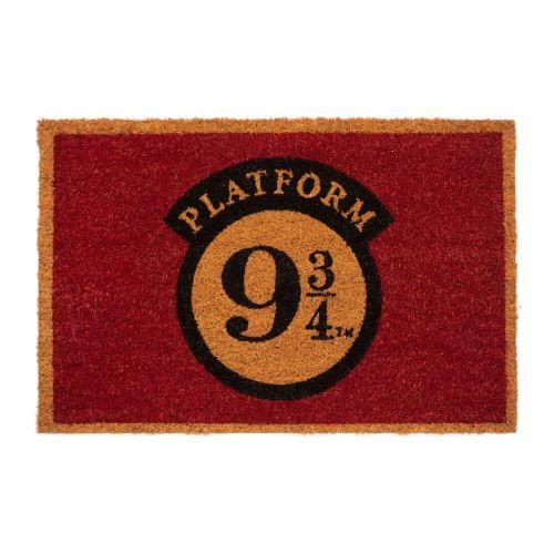 CurePink Rohožka Harry Potter: Nástupiště 9 a 3/4 (60 x 40 cm) červená
