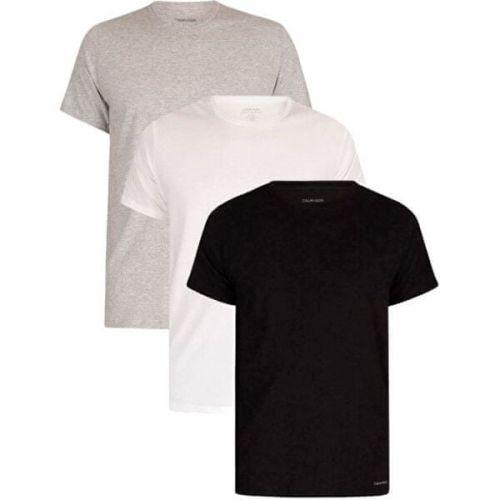 Calvin Klein 3 PACK - pánské triko NB4011E-MP1 (Velikost S)
