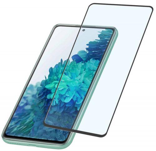 CellularLine Ochranné tvrzené sklo pro celý displej Capsule pro Samsung Galaxy S20 FE, černé