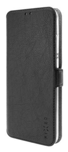 Fixed Tenké pouzdro typu kniha Topic pro Motorola Moto G8 Plus, černé FIXTOP-616-BK